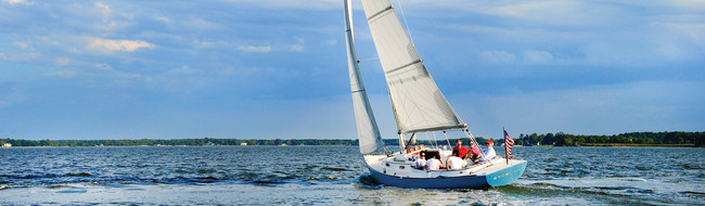 Group sailing activity on the Chesapeake
