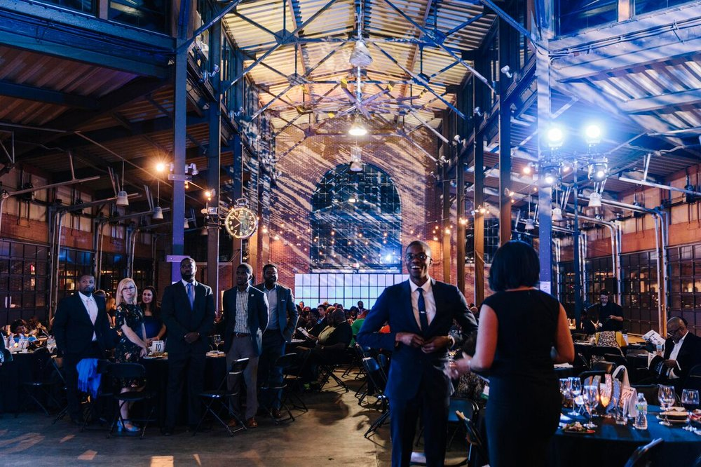 Eastern Market Shed 3 was transformed into an elegant dining and dance venue