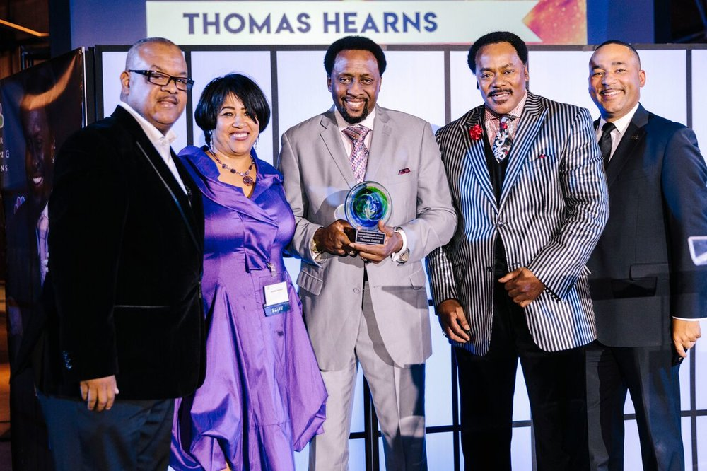 Tommy Hearns was honored as an  Eastside Legend