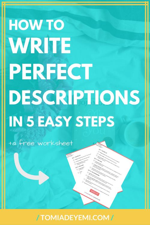 How to write perfect descriptions tomi adeyemi children of blood how to write perfect descriptions ibookread ePUb