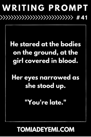 writing prompts tomi adeyemi children of blood and bone