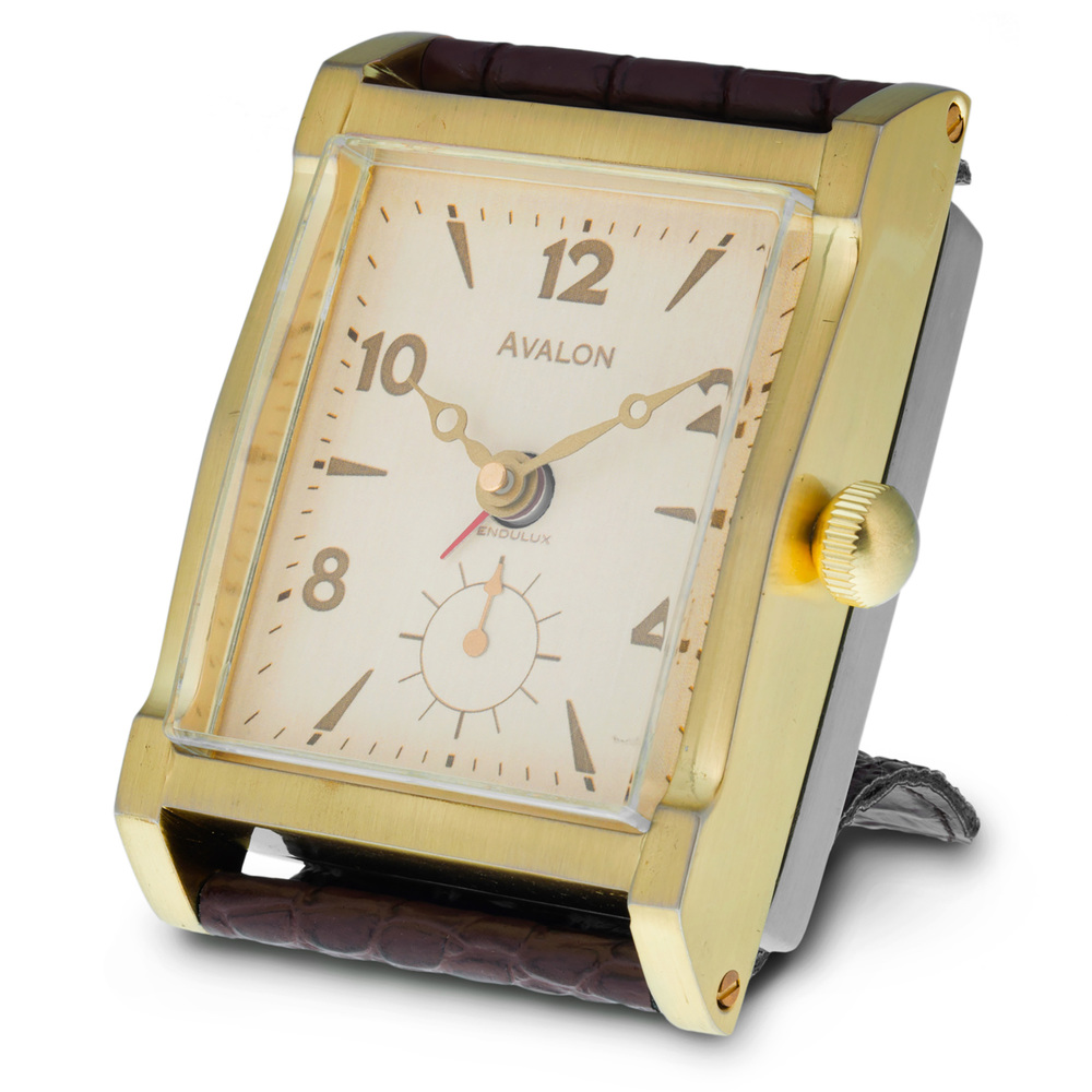 AVALON ALARM CLOCK BRASS - $99.00