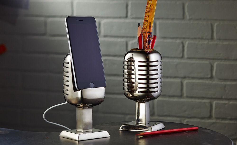 Microphone Stand and Pencil Holder