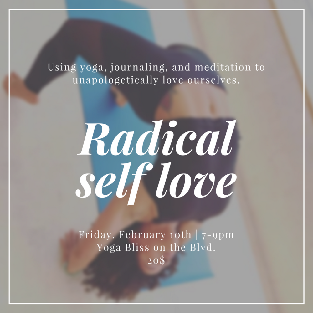 If   you can relate with the need to be content with yourself and really practice self love, we'll be talking about that, practicing some yoga and meditation, and sharing some good vibes during my next workshop on February 10th. Hope to see your lovely face there.
