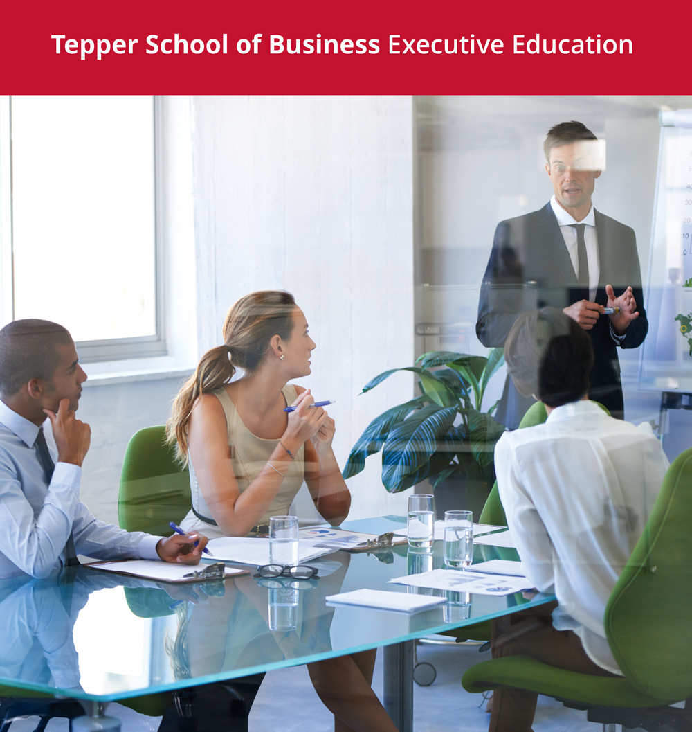 Translate emerging knowledge into business practice - Through customized single-client learning solutions and open enrollment programs forindividuals, Carnegie Mellon partners with organizations to transform leaders for the future. Strategic Leadership   |   Leadership for Women   |   Innovation   |   Advanced Analytics