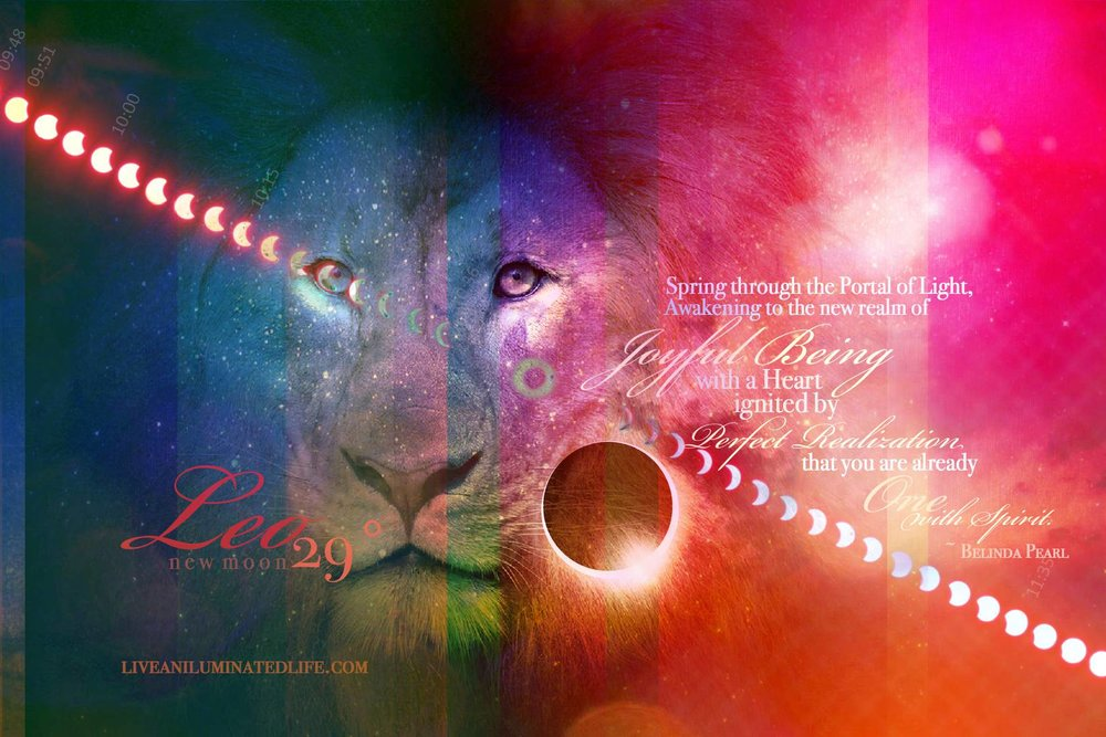 new moon leo - solar eclipse