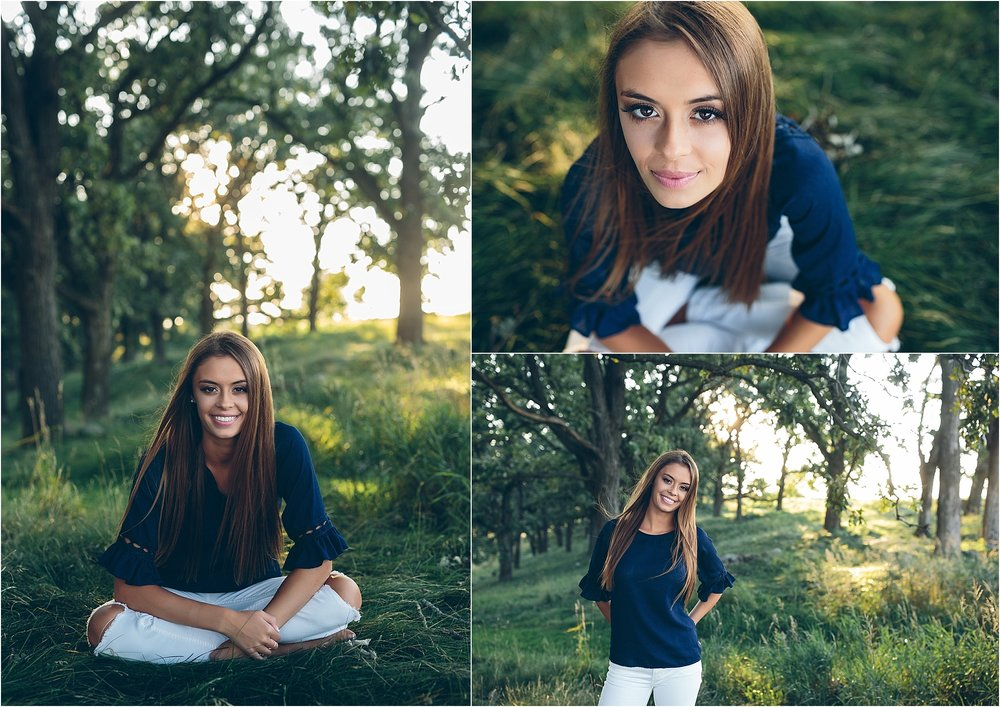 Simple senior session in Madison, WI.