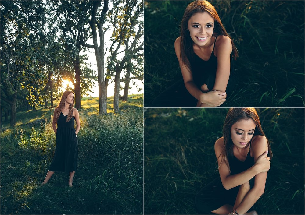 Senior  pictures at pope farm conservancy in Madison, WI.