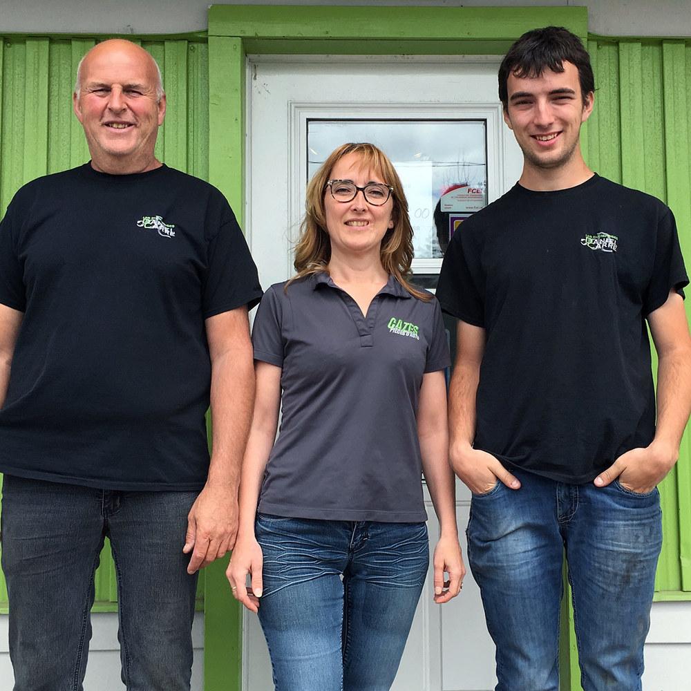 Daniel Carré, Christine Labbé et Samuel Carré, propriétaires