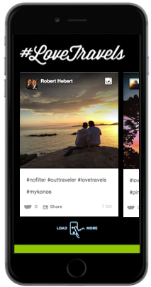 Marriott received homepage takeovers of Pride.com, where #LoveTravels received trending hashtag placement on the navigation bar and ownership of the media wall. The media wall aggregated editorially curated #LoveTravels posts across Instagram and Twitter, all surrounded by a custom designed wrapper.