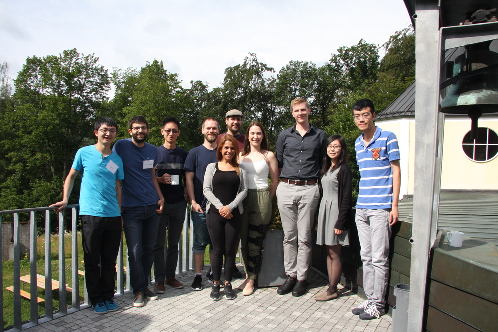 Edward (third from the left) and fellow IsoSiM students at the 2016 Summer School in Schmitten