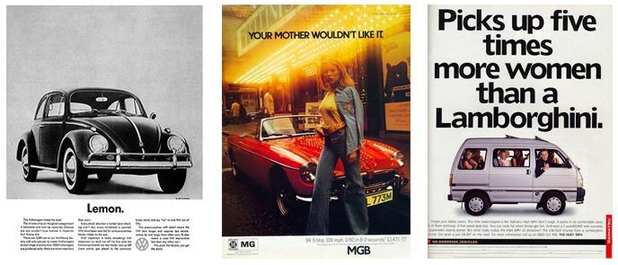 Famous Car Print Ads