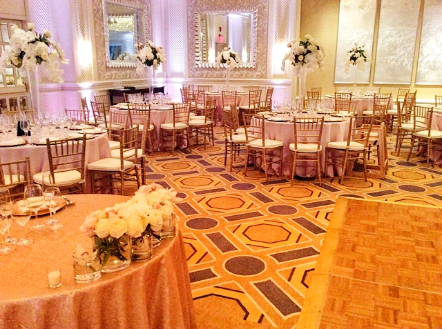 Four Seasons Boston Wedding - Rose Pink Uplighting