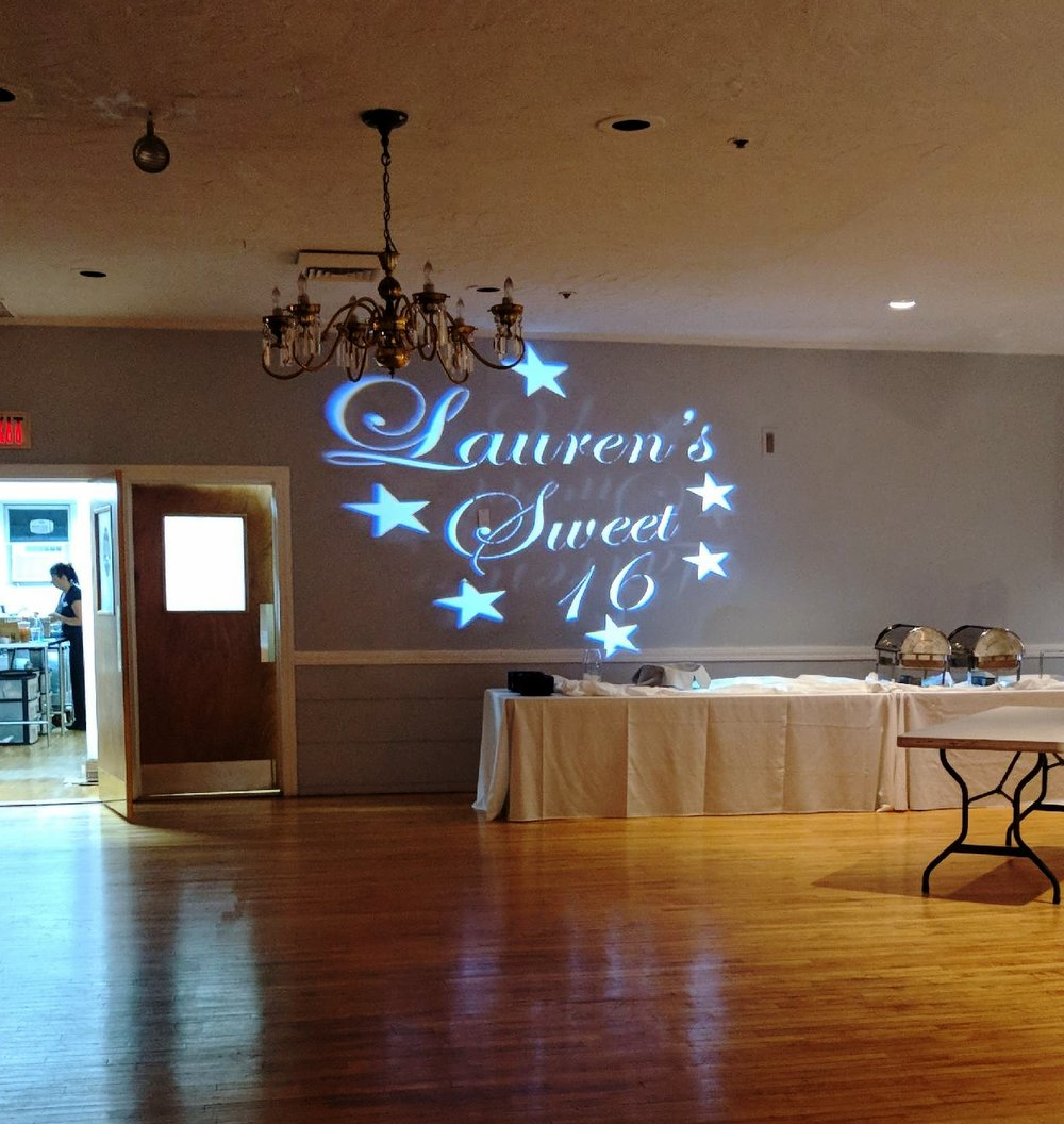 Sweet 16 Birthday Custom Gobo Design