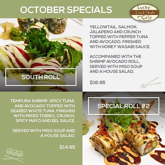 October specials have swooped in! Make sure you plan ahead for a chance to try these!