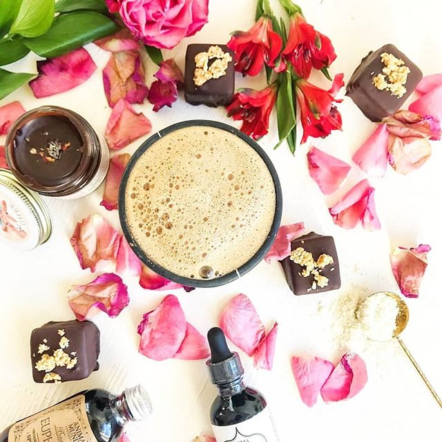 💓🌹 G I V E A W A Y 🌹💓Adaptogenic Cacao Rose Bliss Elixir Package 😍😙😋 We're teaming up with some amazing brands to offer the V-Day giveaway of a lifetime to promote SELF LOVE, and really love of ALL kinds, shapes, and sizes. Whether you enter for yourself, or your greatest lover (also potentially yourself!) we're here to bring you to your freakin' knees with this luscious elixir package. . Who wouldn't drool over any these goodies by themselves, let alone all together? One sumptuously lucky winner receives: . Rasa's Adaptogenic Cacao Brew (8 oz) . Daydream Dessert's Limited Edition Rasa-Maple-Tahini Cacao truffles with Salty Maple Sesame Seeds (x 4) . Pure Rose organic Bulgarian Rose Nectar (144 roses in every bottle!!) . Sun Potion's Tocos (makes everything magically creamy!) . Goddess Ghee's Lunar Cacao Ghee infused with aphrodisiac herbs . Anima Mundi's Euphoria Elixir + Stevia . When combined, they alchemize into the most mouth watering, knee quivering, aphrodisiac cacao elixir you've ever tasted (don't blame us if your underwear just clear falls off 😮🤔😅) With chocolate like you've never tasted before on the side 😇 . So, if you haven't already gone and bought an elixir package from Rasa's site, definitely come get lucky here. Or buy one and then hope to win a second. Either way, to enter, all you need to do is: . Follow @wearerasa, @sunpotion, @drinkpurerose, @goddess.ghee, & @daydream_dessert . Tag someone you want to share this exquisite luscious latte with . Tell us one way you're celebrating LOVE this year. . For extra entries, enter on the other giveaway sponsors' posts, too! . Stay tuned for the Adaptogenic Cacao Rose Bliss Elixir recipe, you don't want to miss this one ♡