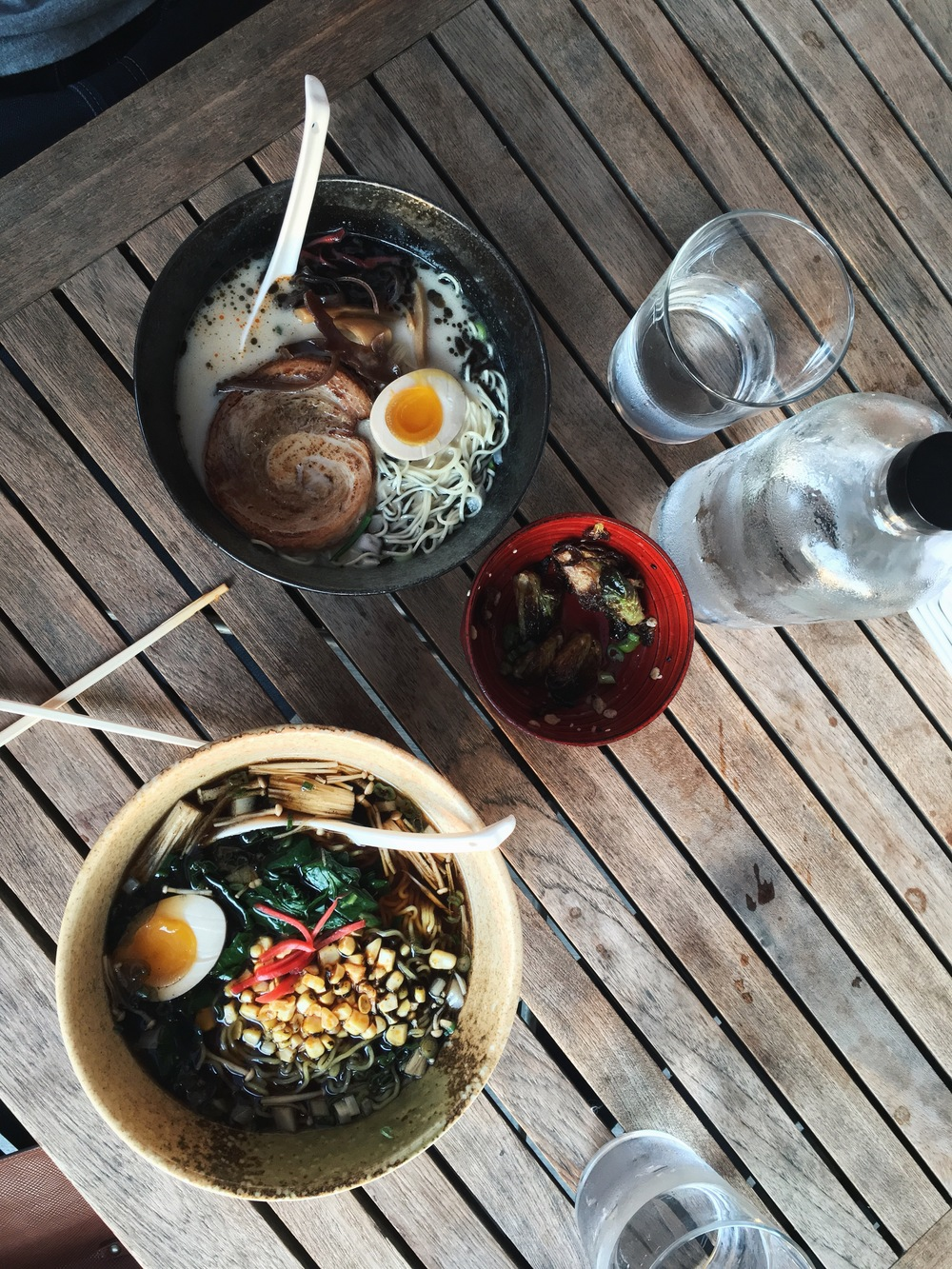 One thing I'm already looking forward to about winter: hot broth bowls brimming with porky, eggy, savoury goodness. Ramen creds:  Two Ten Jack . May not have a sign in the door, but they have corn in their ramen. And that's what's important.