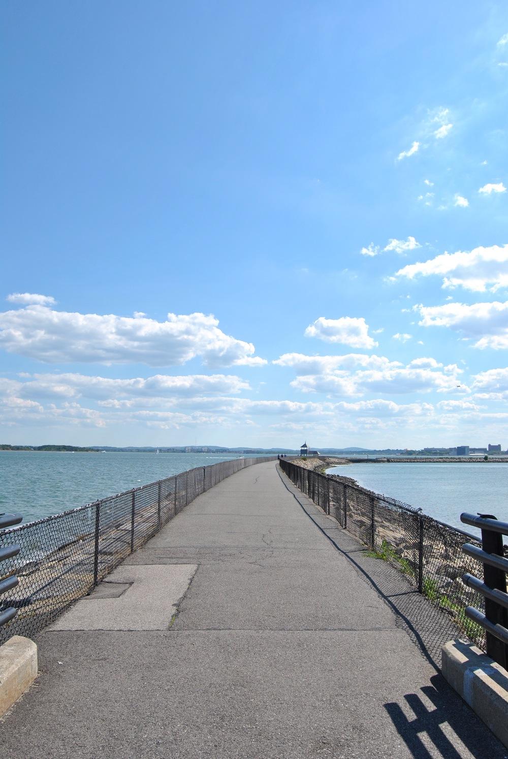 Walking along the harborwalk made Boston Harbour look like a veritable oasis.