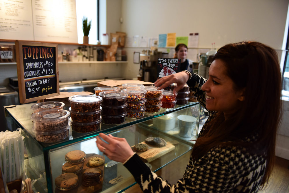 It's not just the ice cream that's made from scratch. FoMu makes almost all of its own toppings and baked goods at its commercial kitchen too.