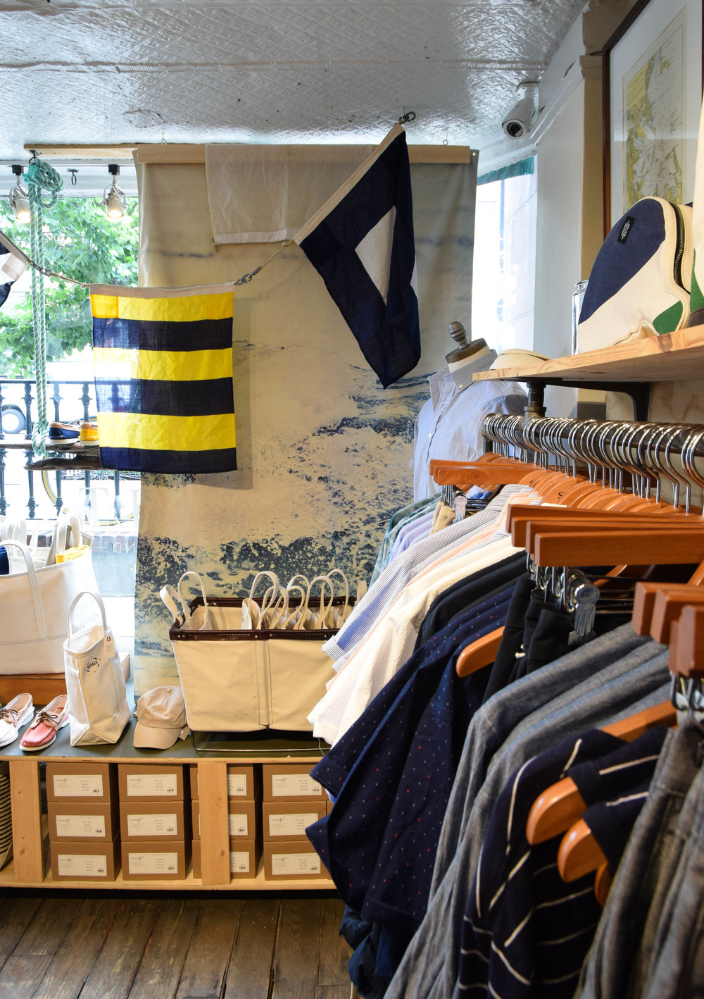 The store started out far trendier, Saul says, with air plants and a heavy lumbersexual influence. But over time, he's steered it toward a more timeless, regionally inspired collection of clothing. There are statement pieces, but most of the things for sale are designed stylistically and constructionally for long term everyday wear.