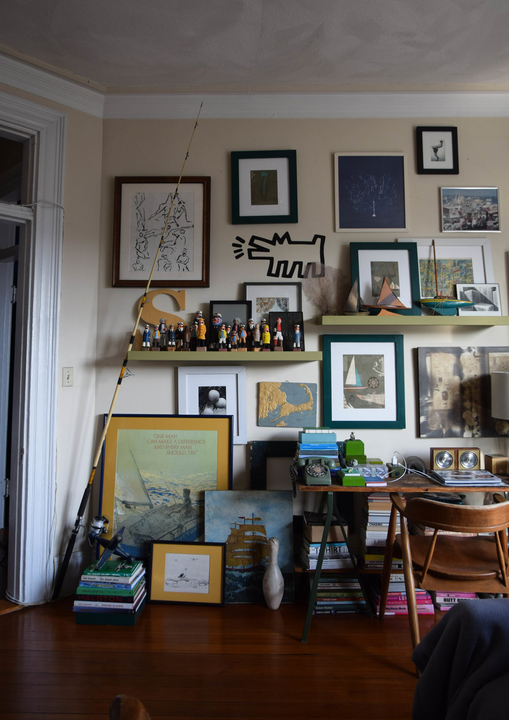 Saul's eye for design and curation doesn't shut when he leaves work. His South End apartment has been featured on interior design blogs for its pristinely cluttered collection of nautical trinkets and New England-inspired decor. He was named one of Boston's most stylish residents in 2015 by the Boston Globe.