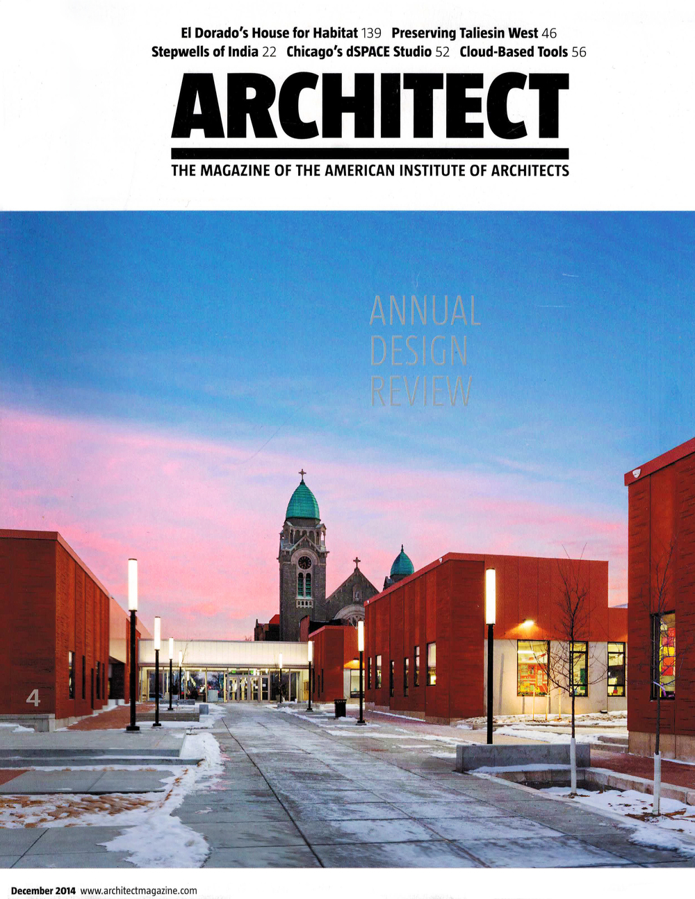 ARCHITECT MAGAZINE  12/14