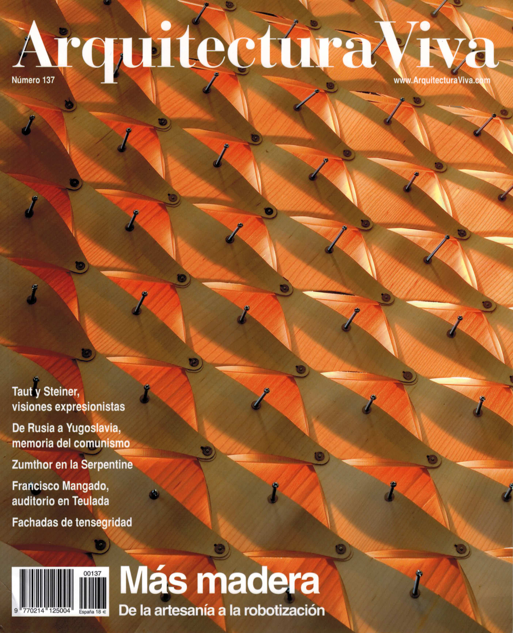 ARQUITECTURA VIVA  Fall 2011, No. 137
