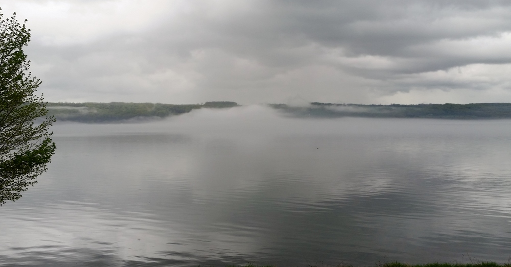 Morning fog on Cayuga Lake