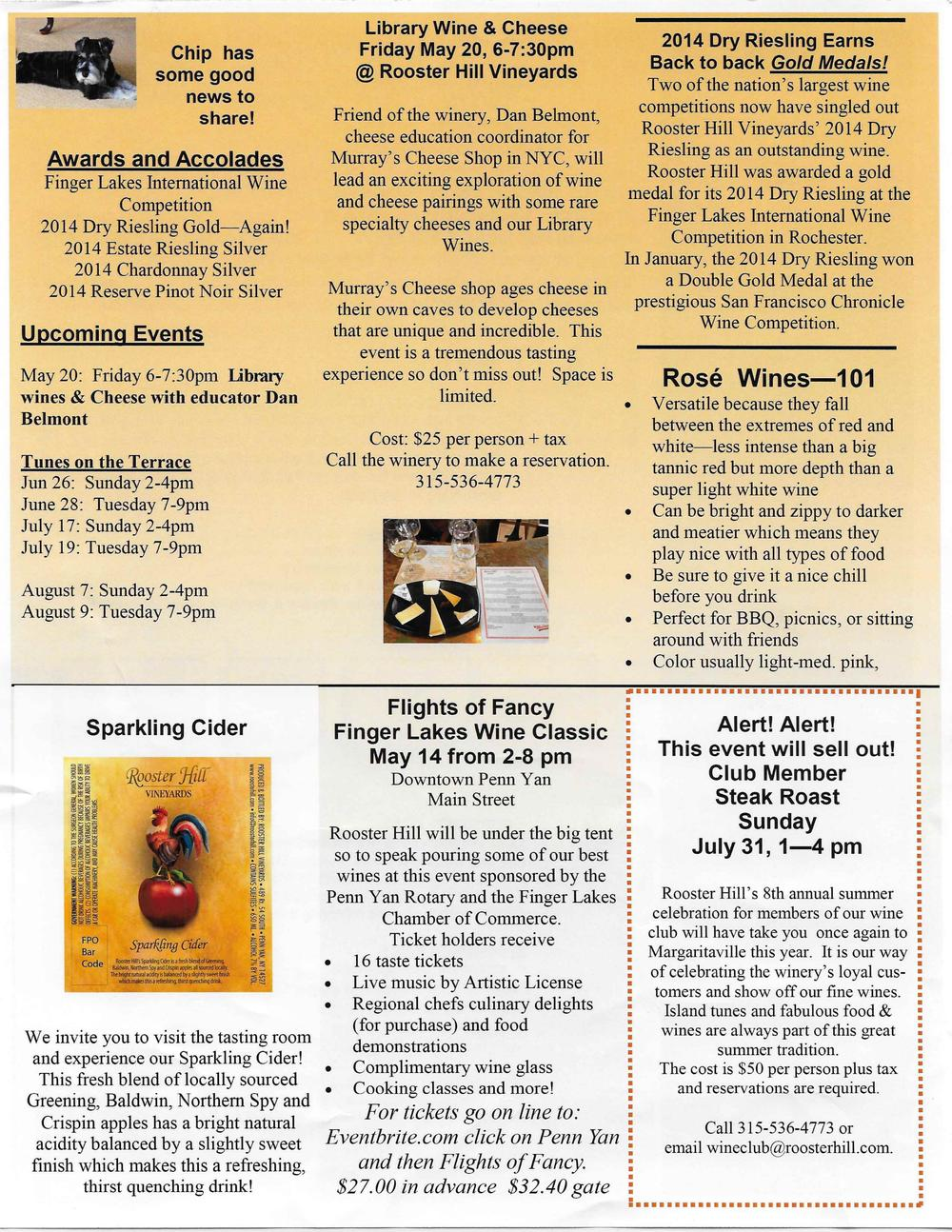 Rooster Hill Wine Club May 2016 Newsletter - Page 2