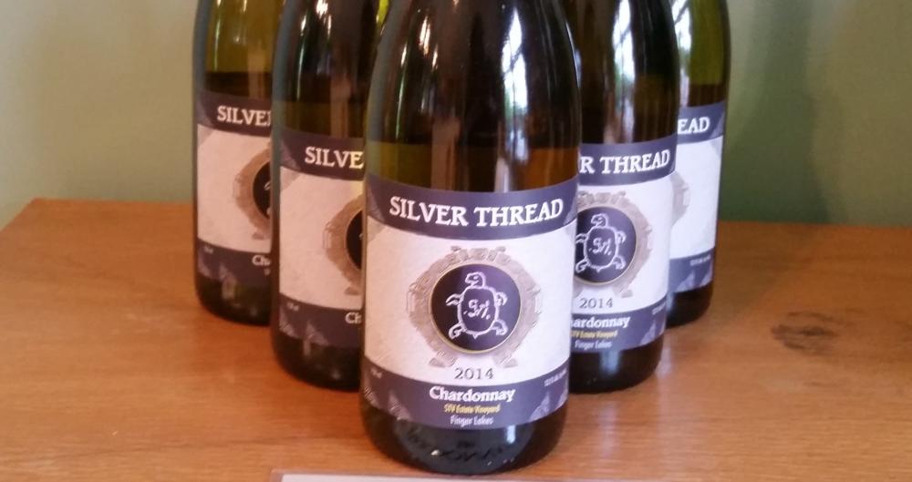Silver Thread Vineyard, 2014 Chardonnay, Finger Lakes Wine
