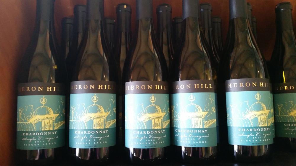 Heron Hill Winery, 2014 Ingle Vineyard Chardonnay Unoaked, Finger Lakes Wine