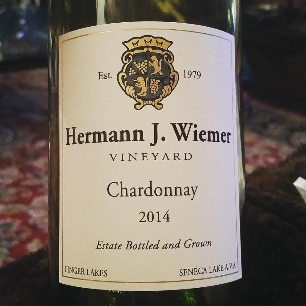 Hermann J. Wiemer Vineyard, 2014 Chardonnay, Finger Lakes Wine