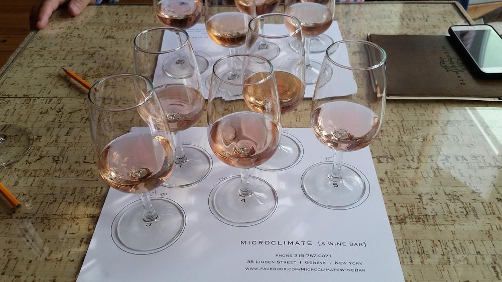 Finger Lakes Rosé Soirée 2016 Geneva, NY - Linden Street  Rosé Tasting at Microclimate Wine Bar