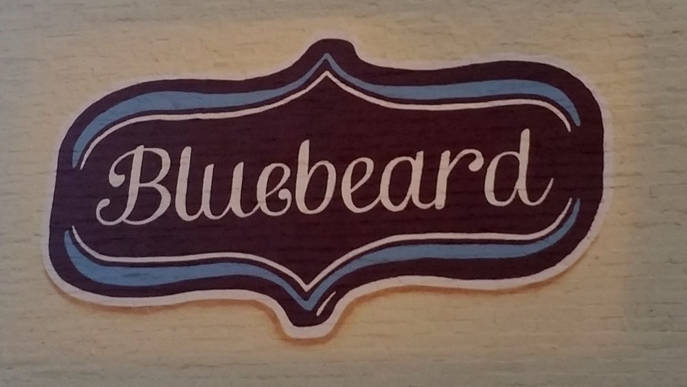 Sign for Bluebeard Indy
