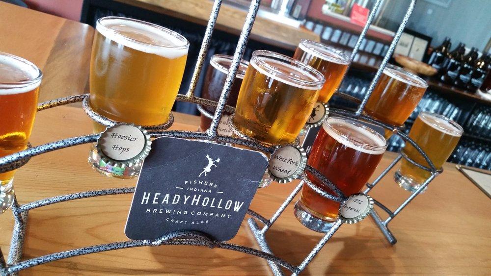 Beer Flight at Heady Hollow Brewing Company