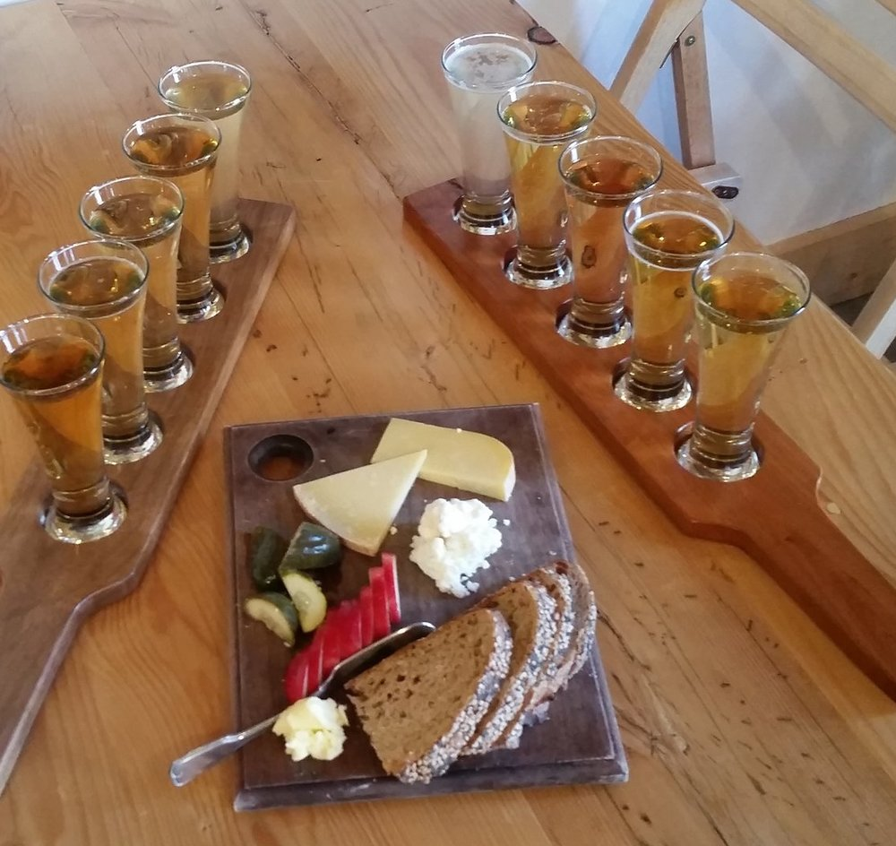Cheese Plate and Cider Flight - Finger Lakes Cider House