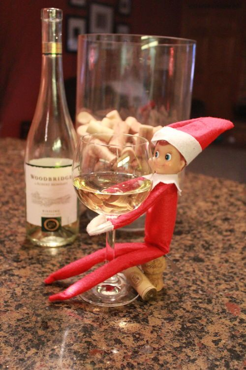 Elf on a shelf wine ideas