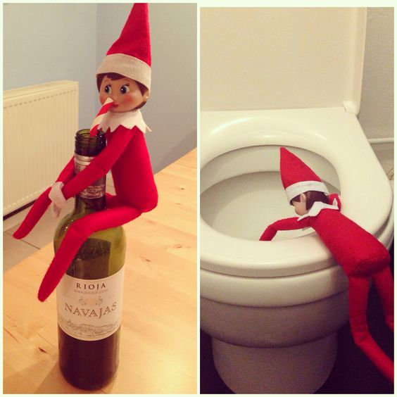 Elf on the Shelf after too much wine