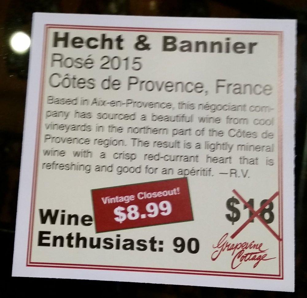 Hecht & Bannier 2015 Rosé - Provence, France