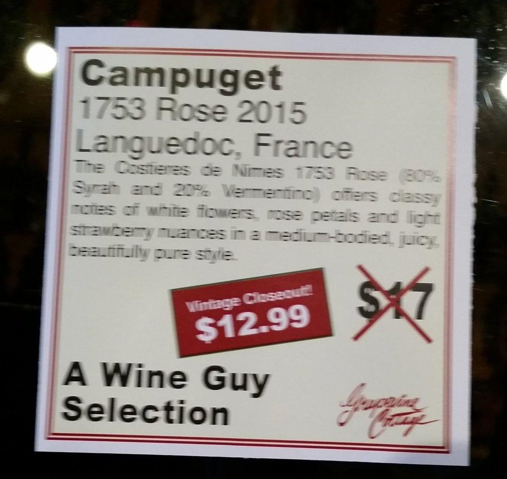 Campuget 1753 Rosé 2015 - Languedoc, France
