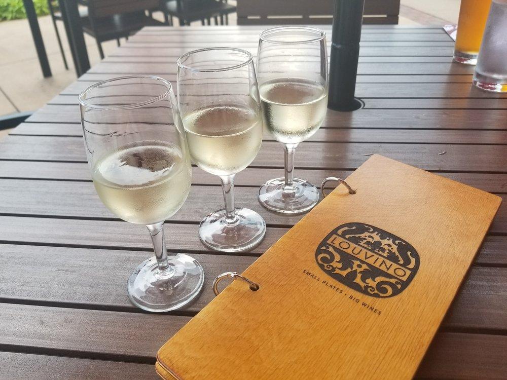 """The """"Jim Gaffigan"""" - White Wine Flight, LouVino Fishers"""
