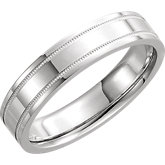 Stuller Comfort Milgrain Men's Wedding Band