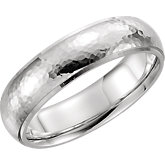 Hammered Mens Wedding Band