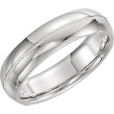 Milgrain Men's Gold Wedding Band