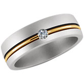 Stuller Two Tone Duo Men's Wedding Band