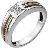Men's solitaire ring