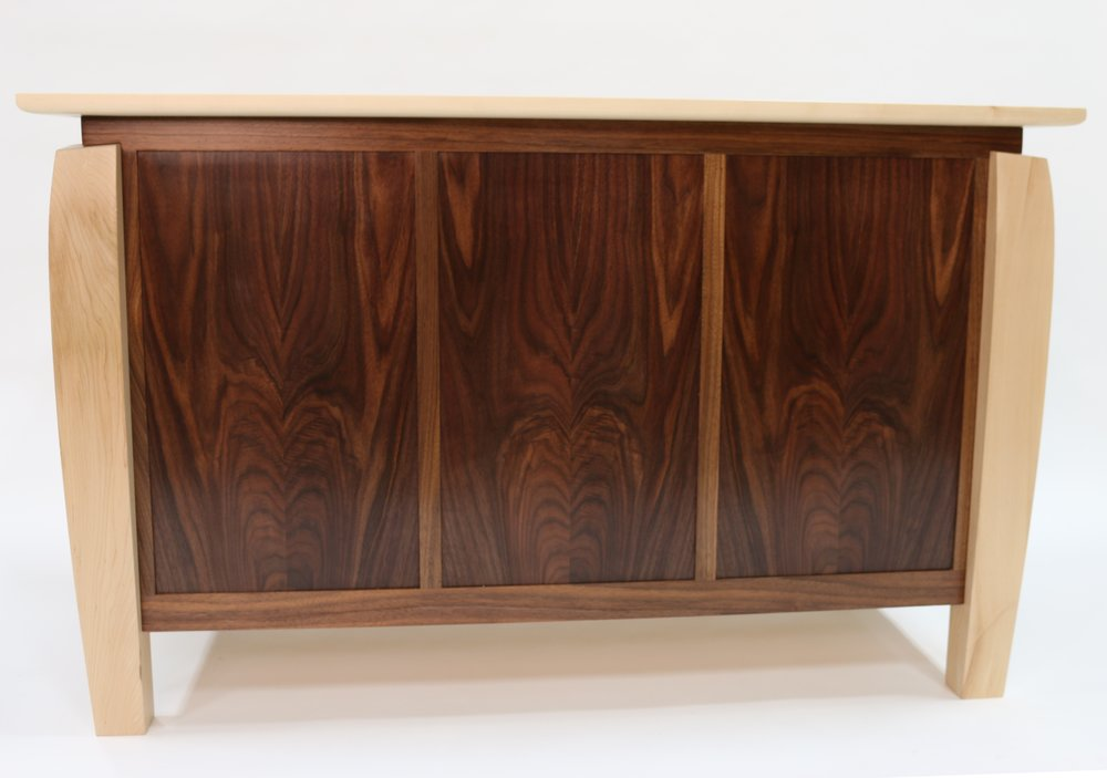 Walnut Dresser back view