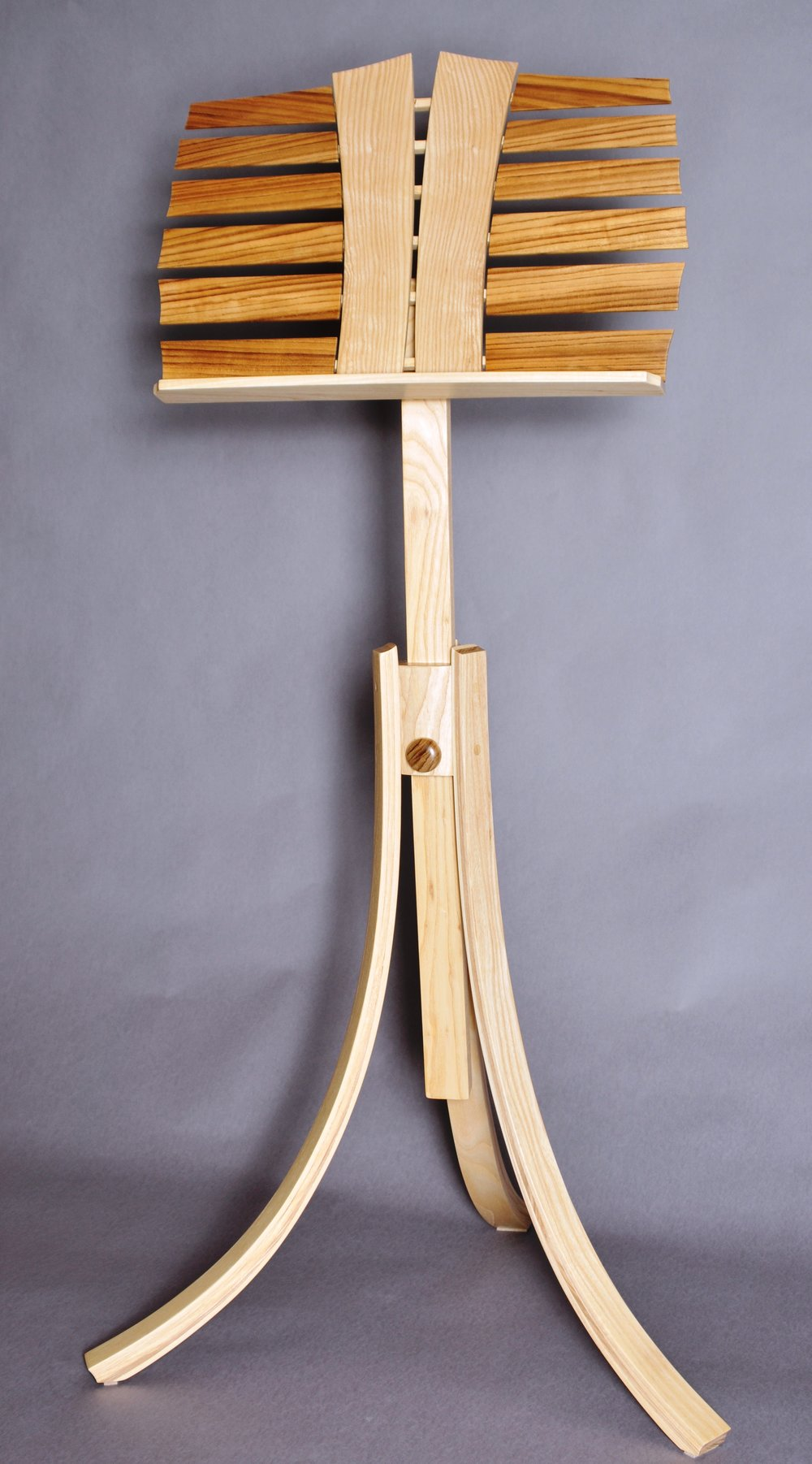 Stave and Clef - Ash Stand and Clefs with Zebra Wood Staves