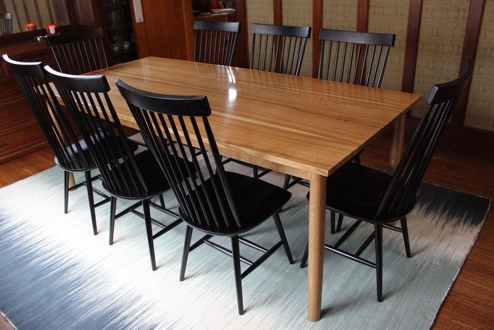 Fumed White Oak Table - w_ Chairs Corner.JPG
