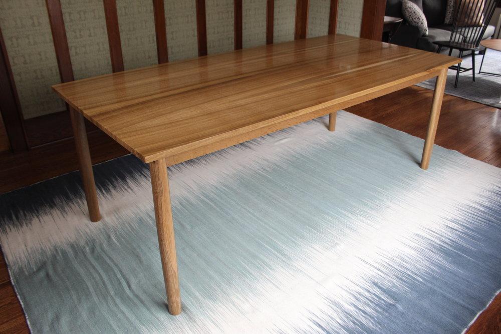 Fumed White Oak Table - w_o Chairs 2.JPG